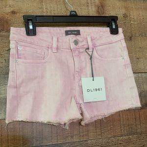 DL 1961 Lucy pink denim shorts, size 16 girls